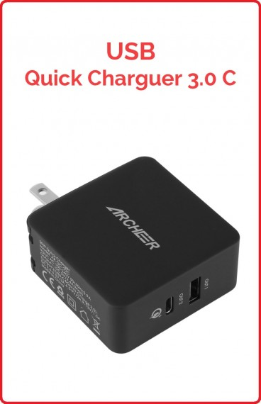 USB Quick Charge 3.0 USB/USB Tipo-C
