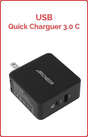USB Quick Charge 3.0 USB/USB Tipo-C